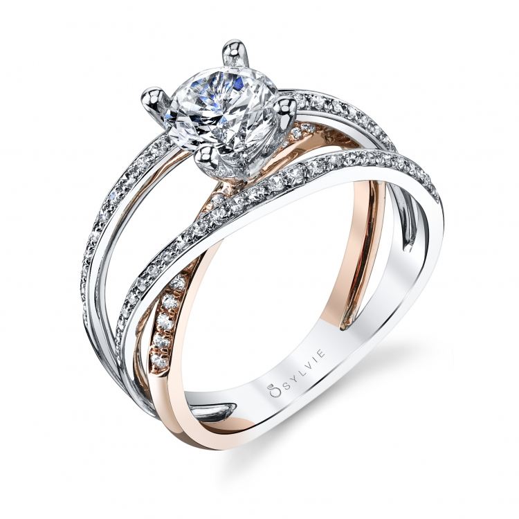 Two-tone Sylvie Engagement Ring